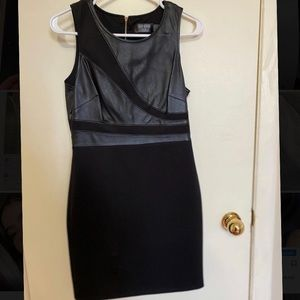 GUESS pleather black fitting dress